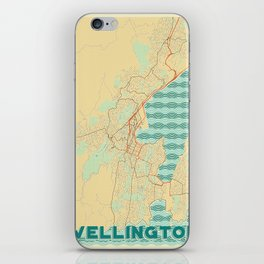 Wellington Map Retro iPhone Skin