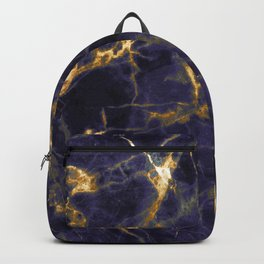 Majesty Purple Marble With 24-Karat Gold Hue Veins Backpack