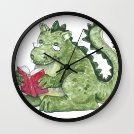 Dragon A Book OUt Wall Clock