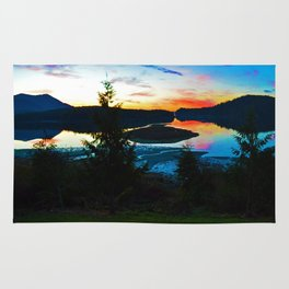 Sunrise in Ucluelet on Vancouver Island, BC Rug
