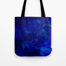 Blue Night- Abstract digital Art Tote Bag