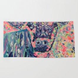 Moo-ve over winter- Cow Beach Towel