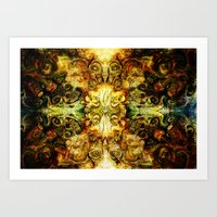 fibonacci Art Prints featuring Fibonacci 3 by Aleks7