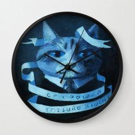 Cat Power Wall Clock