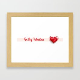Be My Valentine Low Poly Heart Framed Art Print