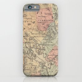 Vintage Map of The NH Lakes Region (1890) iPhone Case
