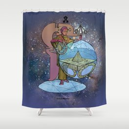 Anaxiomander - Astral Mage Shower Curtain