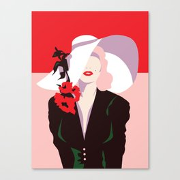 Marilyn Vintage Fashion Print - Cindy Rose Studio Canvas Print