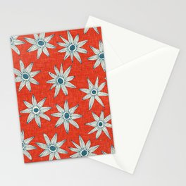 sema fire orange blue Stationery Cards