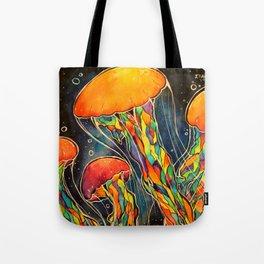 Rainbow Jellies Tote Bag