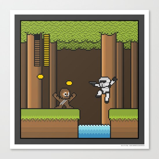 Mega Boss Battles - Chewie vs. Scout Trooper Canvas Print