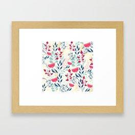 Beautiful Flowers Pattern Framed Art Print