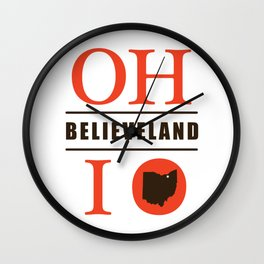Believeland Wall Clock