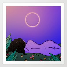 SUMMER ECLIPSE Art Print