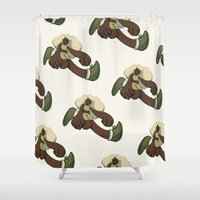 running Shower Curtains featuring Running by Leodoglover
