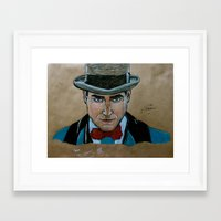 boardwalk empire Framed Art Prints featuring Arnold Rothstein (Boardwalk Empire) by Bina Leo