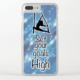 "Aeriaist ""Set your goals High"" Graphic Clear iPhone Case"