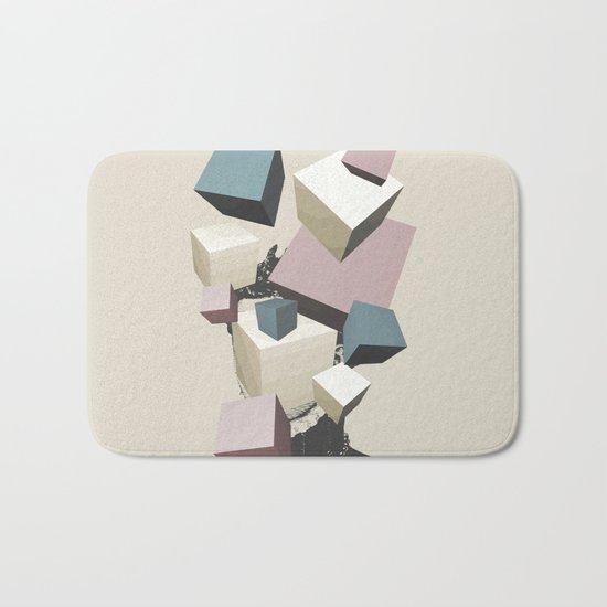 Queen of Cubes Bath Mat