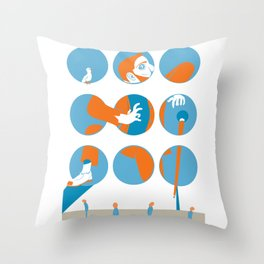 everybody is waiting just for you Throw Pillow