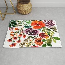 Flower painting Rug
