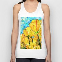tulips Tank Tops featuring Tulips  by sladja