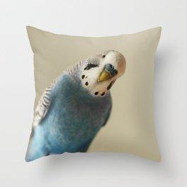 Budgie Throw Pillow