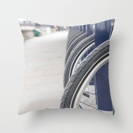 Bike Rides Welcomed! Throw Pillow