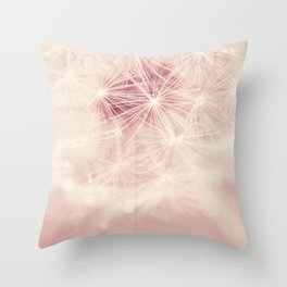 dandelion postcard Throw Pillow