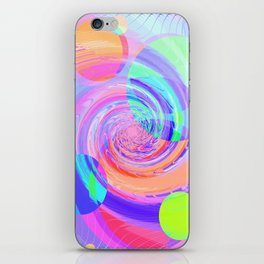 Re-Created Twisters No. 7 by Robert S. Lee iPhone Skin