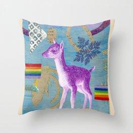 rainbow deer 2 Throw Pillow