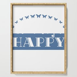 """""""Do what makes you happy"""" tee design. Perfect gift for your family and friends this season! Get it!  Serving Tray"""