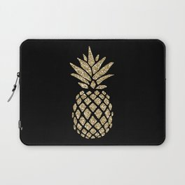 Gold Glitter Pineapple Laptop Sleeve
