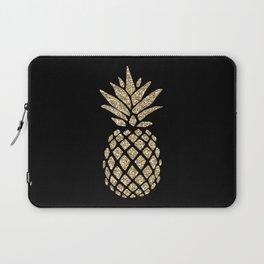 Gold Glitter Pineapple Laptop Sleeve