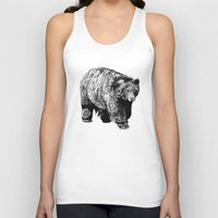 fitzgerald Tank Tops featuring Bear Square by Emma Fitzgerald