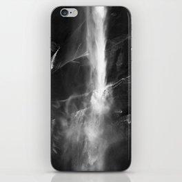 Yosemite National Park - Vernal Falls Black and White iPhone Skin