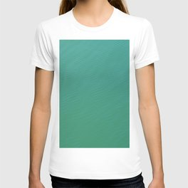 teal waters texture T-shirt