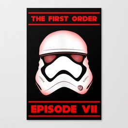 The First Order - Stormtrooper - Episode VII Canvas Print