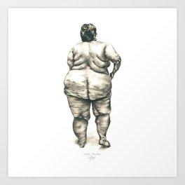 Woman in Shower Art Print