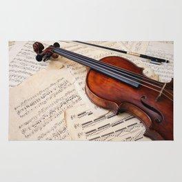 Violin music and notation Rug