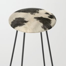 Black & White Cow Hide Counter Stool
