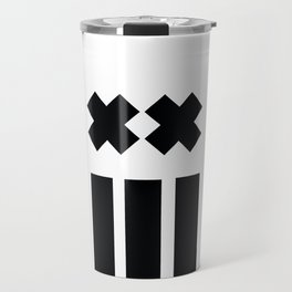 Ex and Stripes Travel Mug