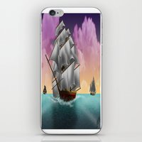 ships iPhone & iPod Skins featuring Rigged Ships by Yoly B. / Faythsrequiem