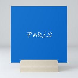 Paris 2 blue Mini Art Print