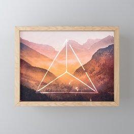 The Elements Geometric Nature Element of Fire Framed Mini Art Print