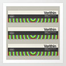 Verithin Eagle Colored Pencils Art Print