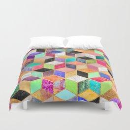 Colorful Cubes Duvet Cover