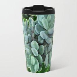 GARDEN OF GRAY-GREEN PINK SUCCULENTS Travel Mug