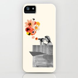 in bloom (black & white) iPhone Case
