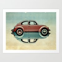 bug Art Prints featuring love bug by Vin Zzep