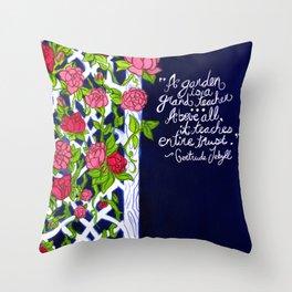 A Garden is a Teacher Throw Pillow